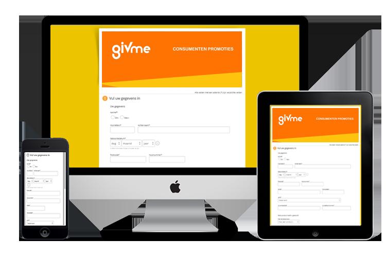 acties desktop Givme